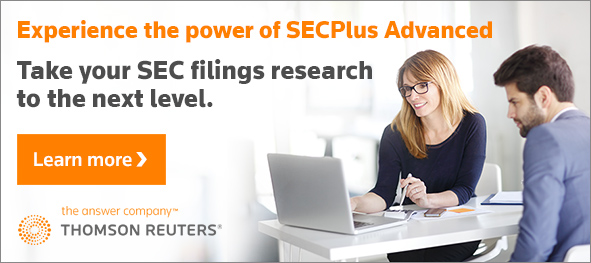 Experience the power of SECPlus Advanced. Take your SEC filings research to the next level. Learn more.