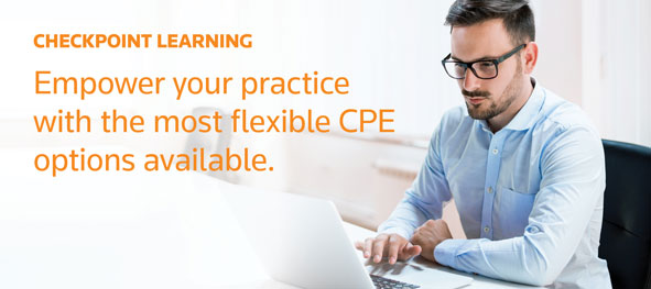 CHECKPOINT LEARNING.  Empower your practice with the most flexible CPE options available.