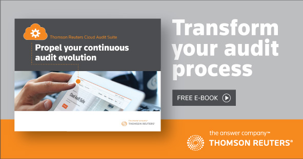 Thomson Reuters Cloud Audit Suite. Propel your continuous audit evolution. Transform your audit process. FREE E-BOOK